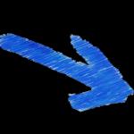 blå pil